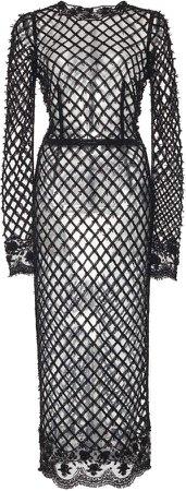 Dolce & Gabbana Fishnet Midi Dress