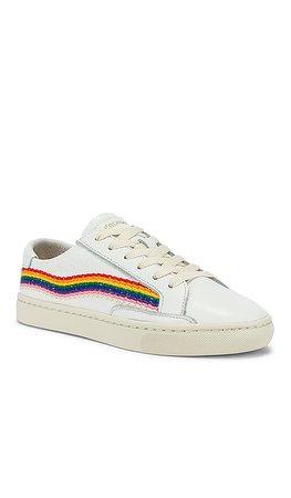 Soludos Rainbow Wave Sneaker in White | REVOLVE