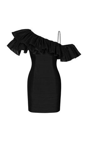 Rasario Ruffled Silk Dress Size: 42
