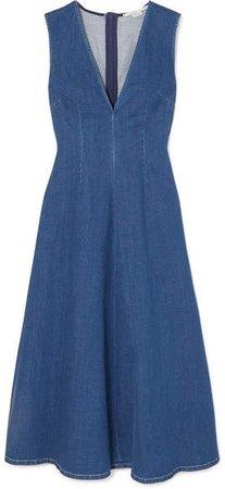 Denim Midi Dress - Blue