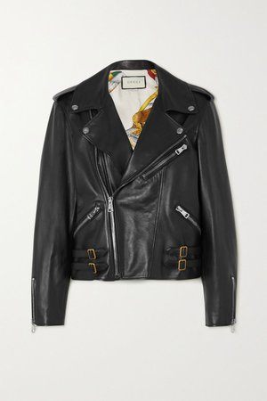 gucci leather biker | NET-A-PORTER