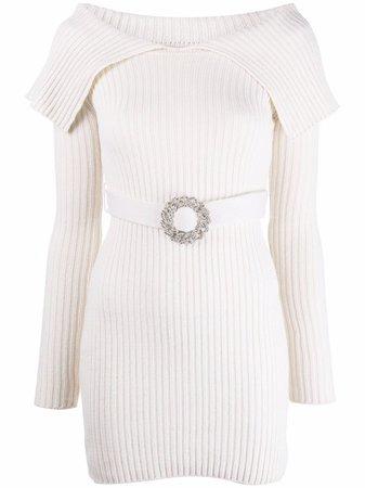 Giuseppe Di Morabito Ribbed merino-blend Knit Dress - Farfetch