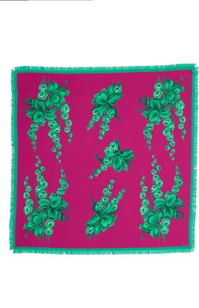 Bombay Floral Silk Scarf