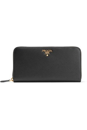 Prada | Textured-leather continental wallet | NET-A-PORTER.COM