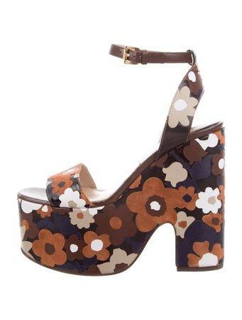 Michael Kors Floral Platform Sandals - Shoes - MIC81729   The RealReal