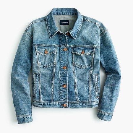 J.Crew: Eco Denim Jacket blue