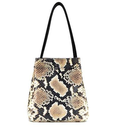 Rita snake-printed leather tote