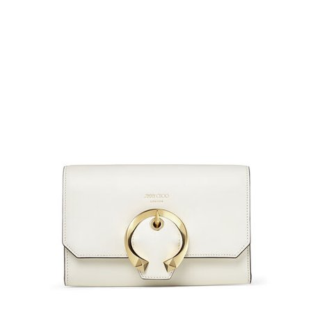Latte Calf Leather Mini Bag with Metal Buckle| MADELINE MINI XB | Spring Summer '20 | JIMMY CHOO