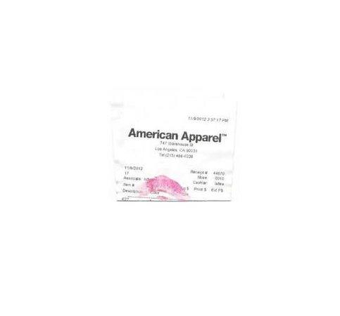 american apparel receipt