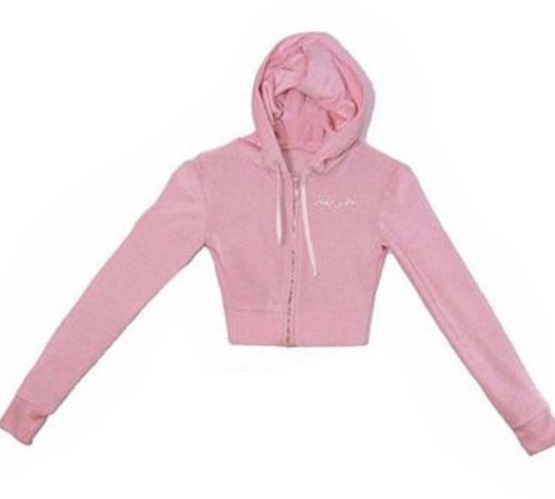 baby pink bedazzled rhinestone babygirl track jacket zip-up cropped hoodie