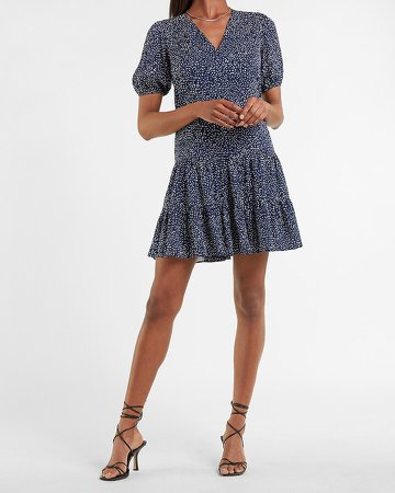 Printed Tiered Trapeze Dress