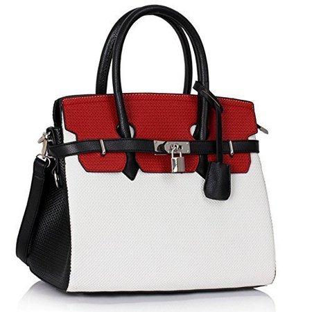 Red And White Handbag