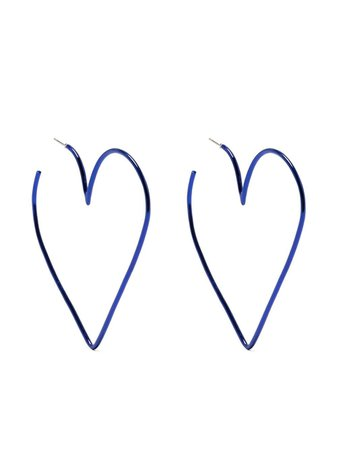 Isabel Marant heart-shaped hoop earrings