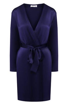 Женский темно-синий шелковый халат LUNA DI SETA — купить за 33170 руб. в интернет-магазине ЦУМ, арт. L630093_9217
