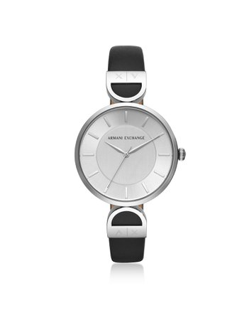Emporio Armani Brooke Stainless Steel Black Womens Watch