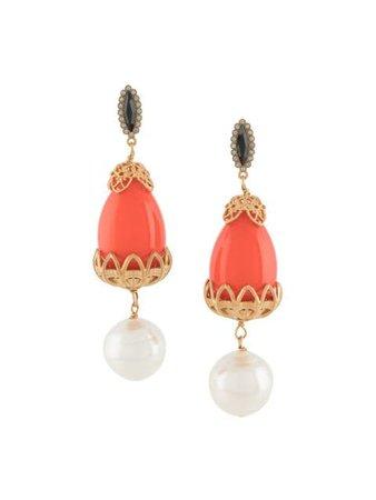 La Doublej Medici drop earrings orange EAR0006BRA001COR001 - Farfetch