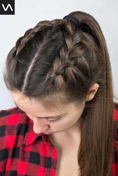 braid ponytail hair