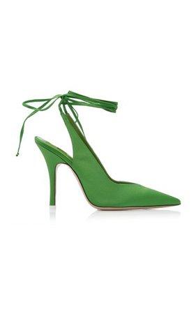 Satin Ankle-Wrap Pumps By The Attico | Moda Operandi