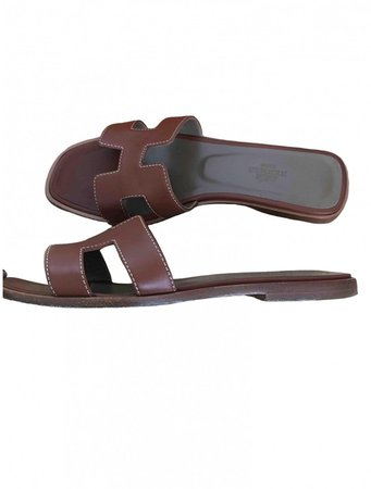 Oran Camel Leather Sandals