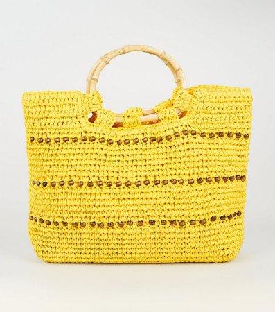 yellow-straw-effect-beaded-shopper-bag.jpg (720×817)