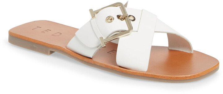 Buckle Detail Slide Sandal