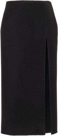 Valentino High-Rise Slit Wool Skirt