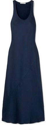 Malta Satin-crepe Maxi Dress - Navy