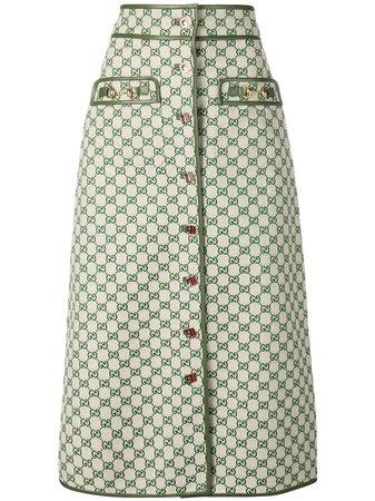 Gucci GG A-line Skirt - Farfetch