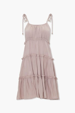 Tiered Ruffle-Trim Shift Dress   Forever 21
