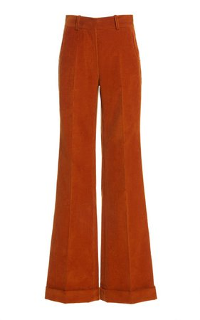 High-Rise Flared Corduroy Pants By Victoria Beckham   Moda Operandi