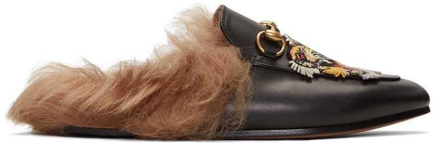 Gucci fur slide