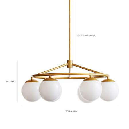 Globe Adjustable Chandelier | PBteen