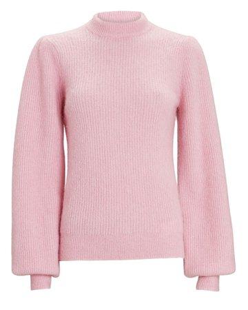 GANNI Balloon Sleeve Wool Sweater   INTERMIX®