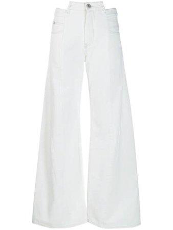 MAISON MARGIELA Décortiqué wide-leg jeans $572 - Buy Online - Mobile Friendly, Fast Delivery, Price