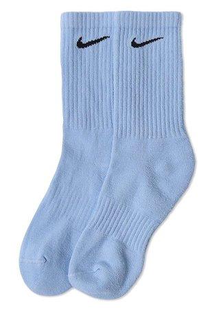 light blue nike socks