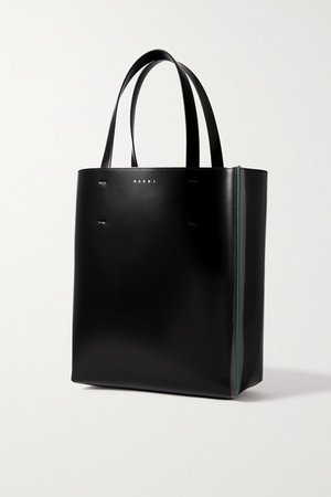 Museo Large Leather Tote - Black