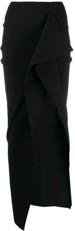 asymmetric side slit skirt