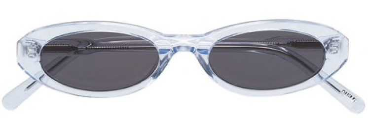 chimi clear oval sunglasses