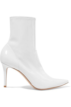 Gianvito Rossi   85 patent-leather ankle boots   NET-A-PORTER.COM