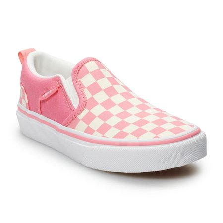 Vans Asher Girls' Checkered Skate Shoes