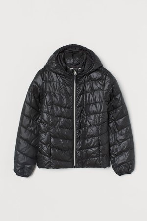 Lightweight Puffer Jacket - Black
