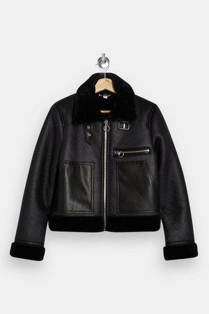 Black Biker Jacket | Topshop