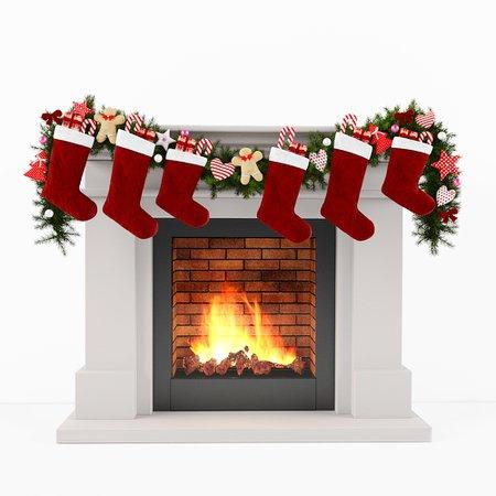 3D model christmas fireplace - TurboSquid 1223345