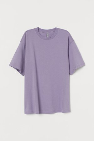 Wide-cut Cotton T-shirt - Purple