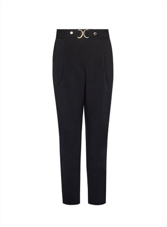 Black Tailored Snaffle Trousers | Dorothy Perkins