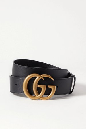 Black Leather belt | Gucci | NET-A-PORTER