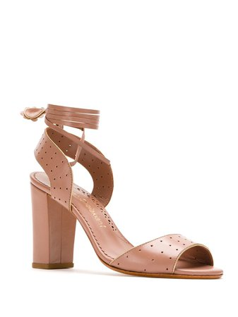 Sarah Chofakian Perforated Leather Sandals | Farfetch.com