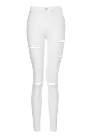 White Super Ripped Joni Jeans | Topshop