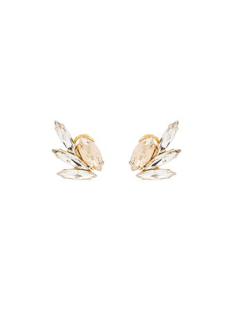 Anton Heunis Swarovski Crystal Wing Earrings GGM301 Silver | Farfetch