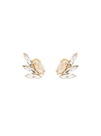 Anton Heunis Swarovski Crystal Wing Earrings GGM301 Silver | Farfetch